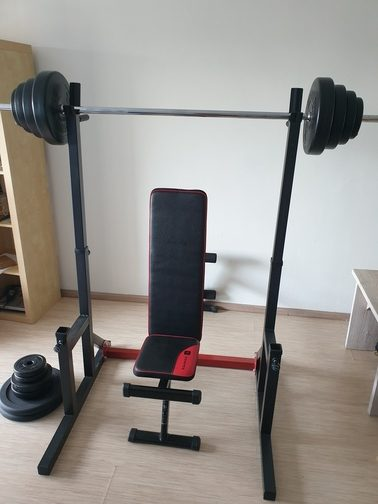 thuis barbell military press